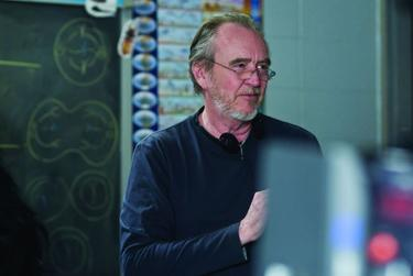Writer/director Wes Craven on the set of &quot;My Soul to Take.&quot;
